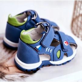 Apawwa Sandały Dziecięce na Rzepy Niebieskie Nubira 3