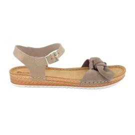 Comfort Inblu obuwie damskie 158D118 szare 2