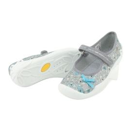 Befado obuwie dziecięce 114Y408 niebieskie szare 4