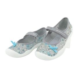 Befado obuwie dziecięce 114Y408 niebieskie szare 3