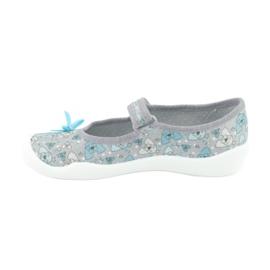 Befado obuwie dziecięce 114Y408 niebieskie szare 2
