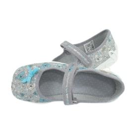 Befado obuwie dziecięce 114Y408 niebieskie szare 5