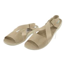 Wygodne sandały damskie Adanex 17495 beżowy 3