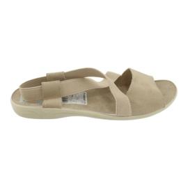 Wygodne sandały damskie Adanex 17495 beżowy 2
