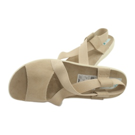 Wygodne sandały damskie Adanex 17495 beżowy 4