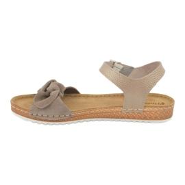 Comfort Inblu obuwie damskie 158D118 beżowy 1