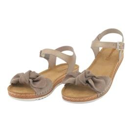 Comfort Inblu obuwie damskie 158D118 beżowy 2