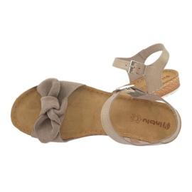 Comfort Inblu obuwie damskie 158D118 beżowy 3