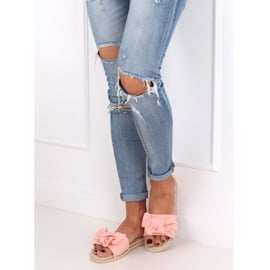 Klapki damskie różowe WS9020 Pink 2