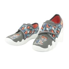 Befado obuwie dziecięce 273X289 niebieskie pomarańczowe szare 3