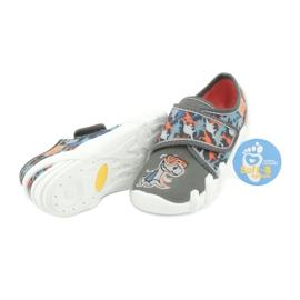Befado obuwie dziecięce 273X289 niebieskie pomarańczowe szare 4
