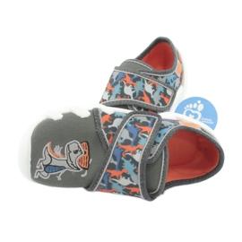 Befado obuwie dziecięce 273X289 niebieskie pomarańczowe szare 5