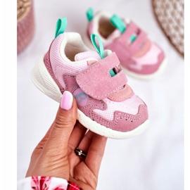 Apawwa Sportowe Buty Dziecięce na Rzep Zamszowe Różowe Malbred 1