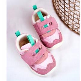 Apawwa Sportowe Buty Dziecięce na Rzep Zamszowe Różowe Malbred 3