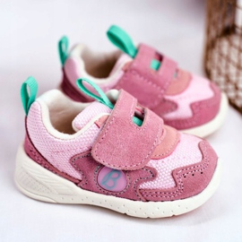 Apawwa Sportowe Buty Dziecięce na Rzep Zamszowe Różowe Malbred 2