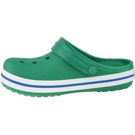 Klapki Crocs Crocband Clog K Jr 204537-3TV szare zielone 1
