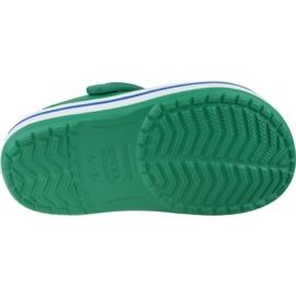 Klapki Crocs Crocband Clog K Jr 204537-3TV szare zielone 3