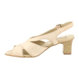 Sandały damskie Anabelle 152 beżowe beżowy 1