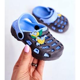 Giolan Klapki Dziecięce Piankowe Kroksy Small Dragon granatowe niebieskie 3