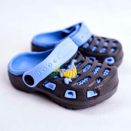 Giolan Klapki Dziecięce Piankowe Kroksy Small Dragon granatowe niebieskie 1