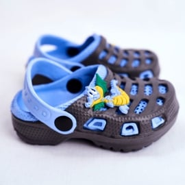 Giolan Klapki Dziecięce Piankowe Kroksy Small Dragon granatowe niebieskie 2