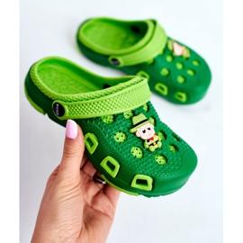 Giolan Klapki Dziecięce Piankowe Kroksy Zielone Kowboj 3
