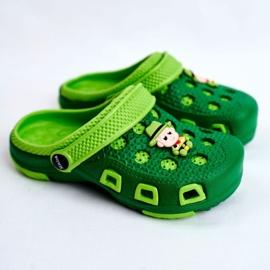 Giolan Klapki Dziecięce Piankowe Kroksy Zielone Kowboj 1