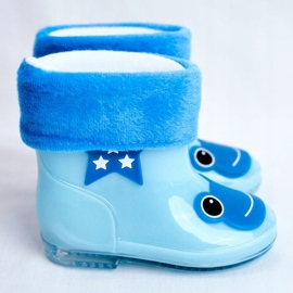 Dziecięce Gumowe Kalosze Niebieskie Frog 2