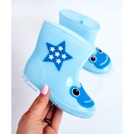 Dziecięce Gumowe Kalosze Niebieskie Frog 4