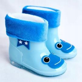Dziecięce Gumowe Kalosze Niebieskie Frog 1