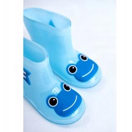 Dziecięce Gumowe Kalosze Niebieskie Frog 5