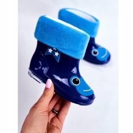 Dziecięce Gumowe Kalosze Granatowe Frog niebieskie 2