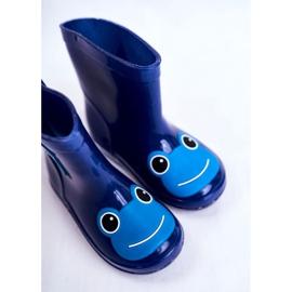 Dziecięce Gumowe Kalosze Granatowe Frog niebieskie 4
