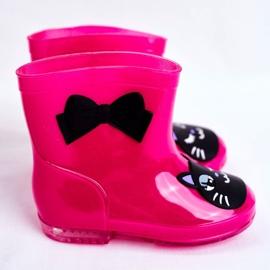 Dziecięce Gumowe Kalosze Różowe Cat czarne 3
