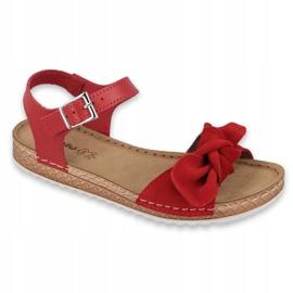 Comfort Inblu obuwie damskie 158D117 czerwone 1