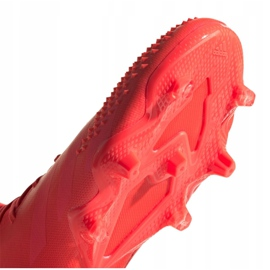 Buty piłkarskie adidas Predator 20.1 Fg M FV3544 czerwone wielokolorowe 4
