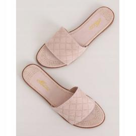 Klapki damskie różowe Q-85 Pink 1