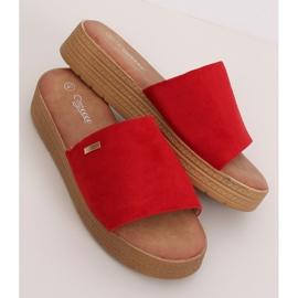 Klapki damskie czerwone G-576 Red 1