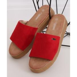 Klapki damskie czerwone G-576 Red 4