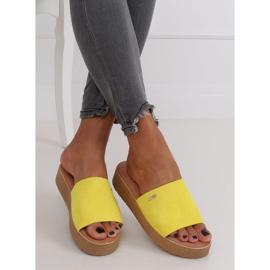 Klapki damskie żółte G-576 Yellow 2