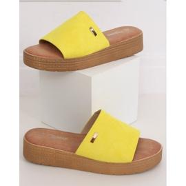 Klapki damskie żółte G-576 Yellow 1