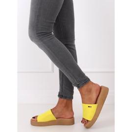 Klapki damskie żółte G-576 Yellow 3