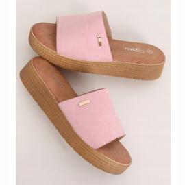 Klapki damskie różowe G-576 Pink 1