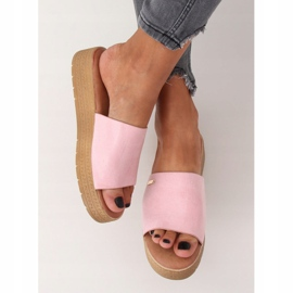 Klapki damskie różowe G-576 Pink 3