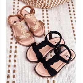 FRROCK Dziecięce Sandały Czarne Lamado 1