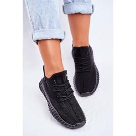 Damskie Sportowe Buty Lekkie Przewiewne Czarne Lumiere 5