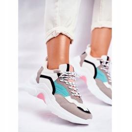 PS1 Sportowe Damskie Buty Sneakersy Biało Zielone Mindanao białe czarne różowe szare 4