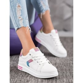 SHELOVET Sneakersy Z Brokatowymi Wstawkami 5