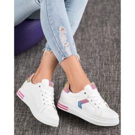 SHELOVET Sneakersy Z Brokatowymi Wstawkami 1