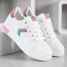 SHELOVET Sneakersy Z Brokatowymi Wstawkami 2